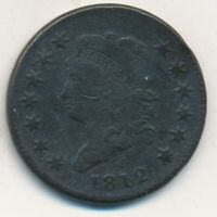 1812 CLASSIC HEAD LARGE CENT-  CIRCULATED CENT-SHIPS FREE INV:DS
