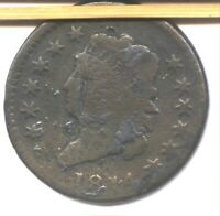 1814 CLASSIC HEAD LARGE CENT  BETTER DATE   VG DETAIL   AFFORDABLE