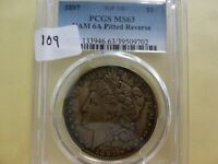 1897 MORGAN DOLLAR PCGS  MINT STATE 63 VAM 6A PITTED REVERSE 702
