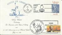 2224 STATUE OF LIBERTY COMBO FDC   UNKNOWN CACHET