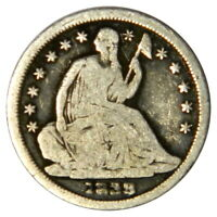1839 SEATED LIBERTY HALF DIME  VG  GOOD ROTATED REVERSE  PRICED RIGHT