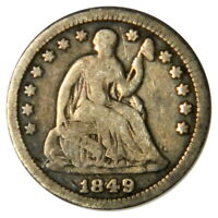 1849 SEATED LIBERTY HALF DIME  F FINE  PRICED RIGHT