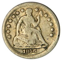 1856 SEATED LIBERTY HALF DIME  F FINE  PRICED RIGHT