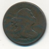 1807 DRAPED BUST HALF CENT-  CIRCULATED COPPER TYPE COIN-SHIPS FREE