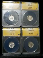 LOT OF ANACS GRADED MERCURY DIMES  1925, 26, 35 AND 39S  YOU GET ALL 4