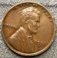 1931 D  LINCOLN WHEAT CENT PENNY - HIGHER GRADE  FREE SHIP. H159