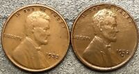 1932-P 1932-D  LINCOLN WHEAT CENTS - HIGHER GRADE  FREE SHIP. H558