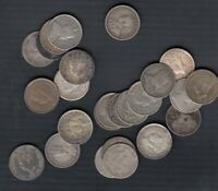 1903 47 NEW FOUNDLAND 5 CENTS SILVER LOT OF 25