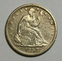 1858 S 50C SEATED LIBERTY HALF DOLLAR 10 DAY AUCTION