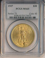 1927 $20 ST GAUDENS DOUBLE EAGLE GOLD COIN   PCGS CERTIFIED