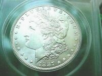 1887 P MORGAN MINT STATE 63 HIGH COLOR MIRROR-WHITE /1223