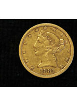 1881 S LIBERTY GOLD HALF EAGLE $5 COIN EXCEPTIONAL DETAILS V