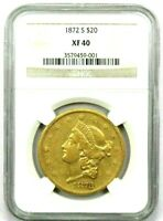 1872 S GOLD LIBERTY DOUBLE EAGLE
