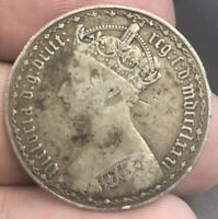 1881 GREAT BRITAIN FLORIN SILVER GOTHIC