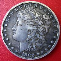 1882 MORGAN SILVER DOLLAR - GREAT CONTRAST, DEFINITION AND EYE APPEAL -