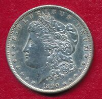 1890-S MORGAN SILVER DOLLAR CHOICE ABOUT UNCIRCULATED SHIPS FREE