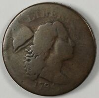 1794 LIBERTY CAP EARLY US COPPER  LARGE CENT 1C S-43 R.2