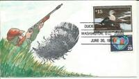 RW58 $15 KING EIDER DUCK STAMP FDC   DON MANGUS HAND PAINTED