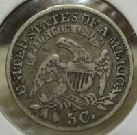 1833 CAPPED BUST HALF DIME, CHOICE VF    HANDSOME ORIGINAL EXAMPLE