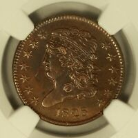 1828 CLASSIC HEAD HALF CENT. NGC AU DETAILS. 13 STARS. SHARP AND ATTRACTIVE