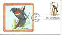 2303 RED WINGED BLACKBIRD FDC   GEERLINGS HAND PAINTED CACHE
