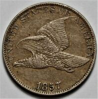 1857 FLYING EAGLE CENT  >> US 1C PENNY COIN <<  LOT 219