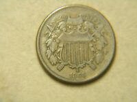 1866 US 2 CENT PIECE IN GREAT COND. -   COIN WITH GOOD EYE APPEAL