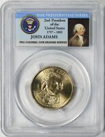 2007-P JOHN ADAMS PRESIDENTIAL DOLLAR $1 PCGS MINT STATE 66 FIRST DAY - POSITION B