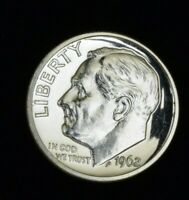 1962 PROOF ROOSEVELT DIME- MIRRORED CAMEO