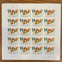 HAPPY BIRTHDAY FOREVER STAMPS FULL SHEET OF 20 MNH NEW