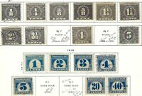 55. LOT OF 17 DIFF. 1914 AND 1919 PROPRIETARY REVENUE STAMPS