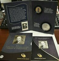 2015 DWIGHT D. EISENHOWER COIN AND CHRONICLES SET. UNITED ST