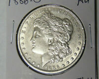 AU 1886-O MORGAN SILVER DOLLAR ABOUT UNCIRCULATED NEW ORLEANS MINT 51821