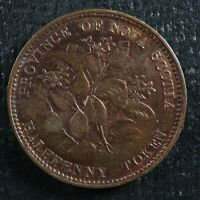 HALFPENNY TOKEN CANADIAN COLONIAL 1 FREE SHIPPING CANADA AND