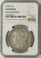 1896-S MORGAN SILVER DOLLAR $1 NGC VF DETAILS - REV SCRATCHED
