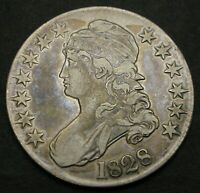 USA CAPPED BUST HALF DOLLAR 1828   SILVER   128