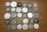 LOT OF 30 MIXED WORLD SILVER COIN LARGE EUROPE SOUTHAMERICA