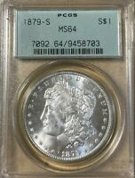 1879-S PCGS MINT STATE 64 OGH MORGAN SILVER DOLLAR