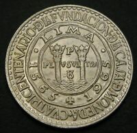 PERU 20 SOLES ND 1965    SILVER   400TH ANNIVERSARY OF LIMA