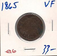 1865 TWO CENT PIECE   FINE   E16