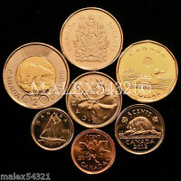CANADA 2012 COMPLETE COIN SET 1 CENT TO 2 DOLLARS UNCIRCULATED  8 COINS