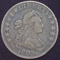 1803 BUST HALF DOLLAR SILVER O-103 VF AUTHENTIC  R-3 PRICED TO SELL