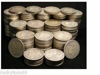 MORGAN SILVER DOLLAR CULL CONDITION  90  SILVER  10 COINS NO HOLES NO SLICKS