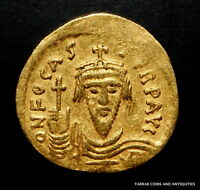 ANCIENT BYZANTINE COIN FOCAS 602 610 AD  OFICINA LETTER ON REVERSE  GOLD