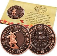 WW1 THE GREAT WAR DIGGER PENNY   REMEMBRANCE DAY   ANZAC DAY
