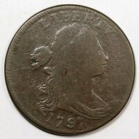 1797 S-120A R-3 REVERSE OF '96 DRAPED BUST LARGE CENT COIN 1C