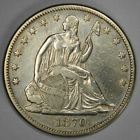 1870 SEATED HALF DOLLAR   REDUCED FOR QUICK SALE   BOLD XF/AU