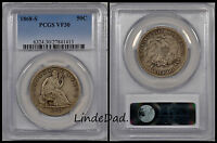 1868 S PCGS VF 30 SEATED LIBERTY SILVER HALF DOLLAR