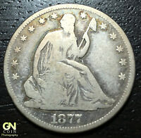 1877 S SEATED LIBERTY HALF DOLLAR      MAKE US AN OFFER!  W1259 ZXCV
