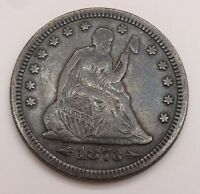 1873 SEATED LIBERTY SILVER QUARTER